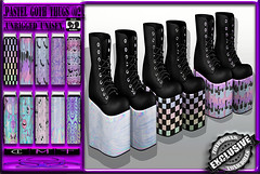 [TD] Pastel Goth [THUGS] 02 (.☣.†ᴏxɪᴄÐᴏɪɪs.☣.) Tags: versus event prdouct fair exclusive unisex unrigged shoes uggs thugs clogs grunge goth gothic puunk urban sl secondlife mesh product new male female girly guy man women girl toxic toxicdolls stompers