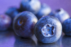 8 Blueberry Way (alideniese) Tags: macromondays refreshments 7dwf anythinggoesmondays macro closeup blueberries fruit berries food foodphotography tabletop multiple alideniese colourful colour purple blue reflection metaltable texture bokeh light shadow round circles healthy yummy reflections circular