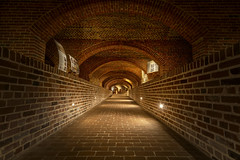 Baltimore Basilica Undercroft (johngoucher) Tags: approved baltimorebasilica baltimore maryland architecture historic architecturephotography architecturalphotography brick bricks brickwork undercroft crypt leadinglines arches archways arch rokinon12mm wideangle sonyimages sonyalpha