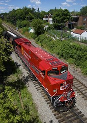 Brand new rebuild (Michael Berry Railfan) Tags: cp8006 cp9526 cp canadianpacific ac44cwm ge generalelectric cp650 train ethanoltrain montreal adirondacksub