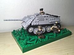 """Jagdpanzer 38(t) """"Hetzer"""" (Wehrabricks) Tags: lego german wwii tank destroyer jagdpanzer 38t hetzer"""