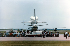 Space Shuttle Enterprise (twm1340) Tags: boeing 747 747100 sca shuttlecarrieraircraft nasa n905na space shuttle enterprise spacelab ov101 safb sheppard afb airforcebase tx texas wichitafalls roachcoach snack truck meal