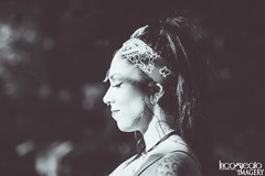Eyes Closed (incogneato.imagery) Tags: black white grey lady woman bandana tattoos tattoo piercing gauges rocky gap state park allegany county maryland incogneato imagery brunette ponytail eyes closed usa united states md blackandwhite