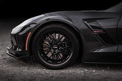 Cray Eagle - Matte Black - Gray Chevrolet C7 Corvette Grand Sport - 3 (tswalloywheels1) Tags: gray grey chevrolet corvette chevy vette c7 grand sport cray wheels aftermarket wheel rim rims alloy alloys eagle mesh deep lip staggered matte black