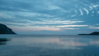 Sunset Flight of the Loon