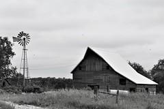 Bee and W (rsedrel) Tags: windmill barn nebraska bee rural seward county han