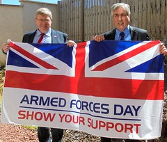With Martin Whitfield MP showing support for Armed Forces Day