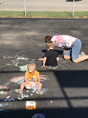 """Sophie Draws in Chalk with Paul and Dani • <a style=""""font-size:0.8em;"""" href=""""http://www.flickr.com/photos/109120354@N07/41741040700/"""" target=""""_blank"""">View on Flickr</a>"""