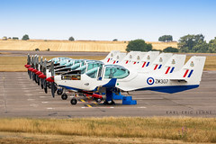 ZM-307 - RAF Grob120   EGYE (Karl-Eric Lenne) Tags: zm307 grob 120 raf royal air force barkston heath lineup photography aviation england canon army