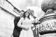Wedding day for A&A (Polcaroid) Tags: wedding weddingdress weddingphotography blackandlight blackandwhite digital digitalphotography canon6d canonfrance canonphotography canonlens happiness