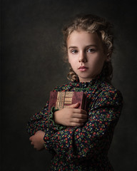 The Book Keeper (beaugraph) Tags: rembrant girl portrait childportrait lowkeyphotography darkportrait strobe painting vermeer vintage beautiful timeless fuji xt2 fujtxt2