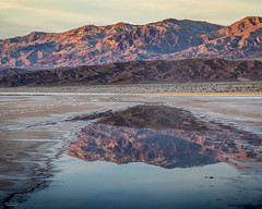 Reflection Of Time (59roadking - Jim Johnston) Tags: ifttt 500px mountain range peak hill scenery ridge scenic rock extreme terrain dramatic landscape sunset death valley reflection