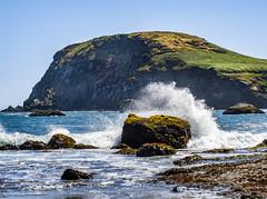 Rock and Sea (marvhimmel) Tags: sand oregoncoast general beach crashing surf rocks waves