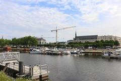 Saint Felix canal (syl20_44) Tags: atlantique boats buildings canal clouds colours france lock loire mirror morning nantes river sky water saintfélix