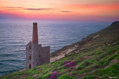 Wheal Coates Sunset, Cornwall. (_Anathemus_) Tags: porthtowan st agnes cliff top wheal coates cornwall cornish england uk seascape coast tin mine nikon d750 north national trust