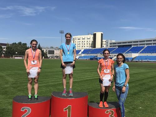 Победитель и призеры Чемпионата города Курска по легкой атлетике в беге на дистанции 3000 метров