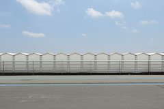 azzurro (Rino Alessandrini) Tags: strada azzurro cabine lungomare allumino cielo minimalista astratto righe sole estate azure road cabins seafront aluminum minimalist sky abstract lines sun summer industry nopeople outdoors builtstructure steel metal warehouse fence roof architecture buildingexterior gray everypixel