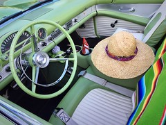 The Hat (Haytham M.) Tags: car cars colourful hat outdoor outdoors thunderbird ford classic carshow