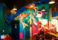 Touch of the Orient I (wiredforlego) Tags: graffiti mural streetart urbanart aerosolart ashleymontague vancouver washington geisha koi