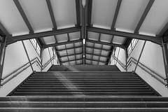 no escalator in sight (rooibusch) Tags: berlin germany friedrichshain ostkreus treppe übergang stairway