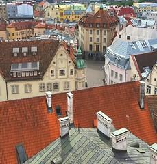 Tallinn old town roofs (sakarip) Tags: sakarip tallinn oldtown estonia roof roofs fromabove buildings chimneys