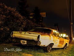 A Comet From Behind (khan_dane) Tags: alberta edmonton fordcars paintingwithlight nightscape mercurycomet classiccars