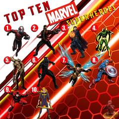 Top Ten Marvel Superheroes (AntMan3001) Tags: top ten marvel superheroes