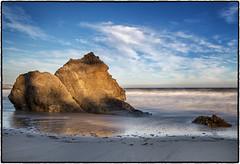 Lechuza Beach, Malibu. (drpeterrath) Tags: seascape landscape beach rock waves ocean water blue sky longexposure sunset shadows canon eos 5dsr outdoor pacific malibu losangeles california coast