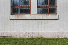 (Khuroshvili Ilya) Tags: facade symmetry architecture soviet ussr wall outdoors rusty weathered frontal