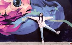 smileGirl (Juárez 3duardo) Tags: smile girl fish woman women pink street beautiful art cs6 crazy country city