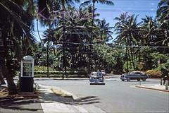 Kakakaua at Seaside Waikiki 1953 (Kamaaina56) Tags: 1950s waikiki hawaii streetview slide