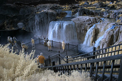 Water Watchers (arbyreed) Tags: arbyreed water shoshonefalls infrared 665nanometerinfrared falsecolorinfrared channelinvertedinfrared color twinfallsidaho infraredconvertedcanon20d