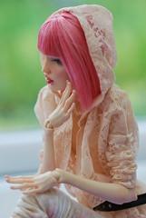 Pink again! (stashraider) Tags: pashapasha resin ball jointed doll wig megfashiondoll etsy serenadedoll forevervirginia