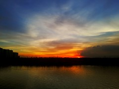 #sky #Sun #sunset #weather #photography #mobilephotography #blue #red #lovethisweather (Shourav Photography) Tags: blue mobilephotography lovethisweather red sun photography sky sunset weather