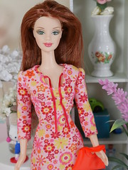 Orange theme Barbie hippie (modcasey) Tags: barbie hippie dolls for photo challenge divas theme
