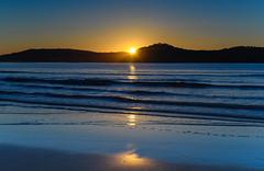 Peek A Boo Sunrise Seascape (Merrillie) Tags: daybreak sunrise nature dawn uminabeach centralcoast morning sea landscape newsouthwales rocks earlymorning nsw clouds beach ocean water uminapoint waterscape coastal cloudy sky seascape australia coast outdoors waves