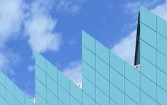 ^  ^  ^  ^  geometry (christikren) Tags: austria architecture architektur ausstellung building christikren exhibition facade geometry himmel lines österreich panasonic perspective sky blue modern museum abstract lookingup clouds structure