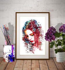 Sad Woman Watercolor painting (marianv2014) Tags: sad woman watercolor wallart aquarelle watercolour watercolorpainting watercolorportrait face head lookingdown sadness girl girls women splashes splatters blue red eyesshut rubylips walldecor roomdecor girlposter girldecor womanposter womandecor fortheroom artgifts affordableart fineart young modernart moderndecor marianvoicu watercolorposter beautiful illustration illustrations grief sensual innocent innocence artistic decor colorful interiordesign decorative