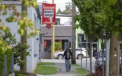 George's Body Shop (Clayton Perry Photoworks) Tags: vancouver bc canada summer explorebc explorecanada sign people