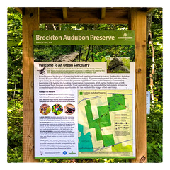 Today's Walk (Timothy Valentine) Tags: 2018 summertrailchallenge large hiking wildlandstrust sign audubon 0618 brockton massachusetts unitedstates us