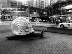 Lady in a big Snail 🐌 on Broadway (dannydalypix) Tags: artonbroadway art nyc snail bigsnail