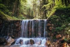 Short longtime exposure... (der_peste (on/off)) Tags: waterfall longtime landscape nature rocks trees forest longtimeexposure