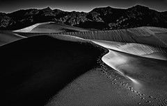 Death Valley DML (Diane Michaud Lowry) Tags: deathvalley sand dunes california monochrome curves lines contrast