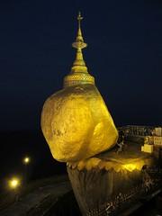 Golden Rock By Night (D-Stanley) Tags: goldenrock myanmar burma buddha