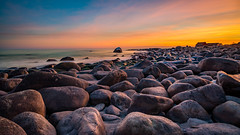 Rocks on rocks (Richard Larssen) Tags: richard richardlarssen rogaland rocks rock beach norway norge norwegen nature nd larssen landscape light long jæren sony scandinavia sea sunset sky sel1635z a7ii teamsony sonyalpha natur hå strand stein solnedgang sjø kyst horisont horizon