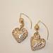 Precious Metal Clay Embossed Heart Earrings