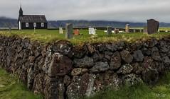 Búðakirkja Snæfellsnes (einisson) Tags: búðakirkja snæfellsnes church graveyard tombstone rocks grass iceland outdoor landscape nature einisson canon70d