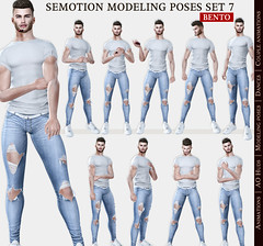 SEmotion Female Bento Modeling poses Set 7 - 10 static poses (Marie Sims) Tags: semotion sl secondlife stands mocap modeling man model male men tmj pose poses posing photographer photosl photo ao animations animation avatar anim