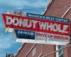 The Whole Truth (Orson Wagon) Tags: kansas neon sign donuts color eat coffee sky urban americana roadside drive up window