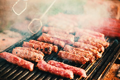 Meat on the grill (dejankrsmanovic) Tags: barbecue grill cebab sausage meat animal closeup detail food diet smoke outdoor outside fire hot serviced cook bake concept conceptual portion menu traditional classical serbian cuisine europe culture metal ingredient eating lunch meal tasty specialty delicious national picnic holiday